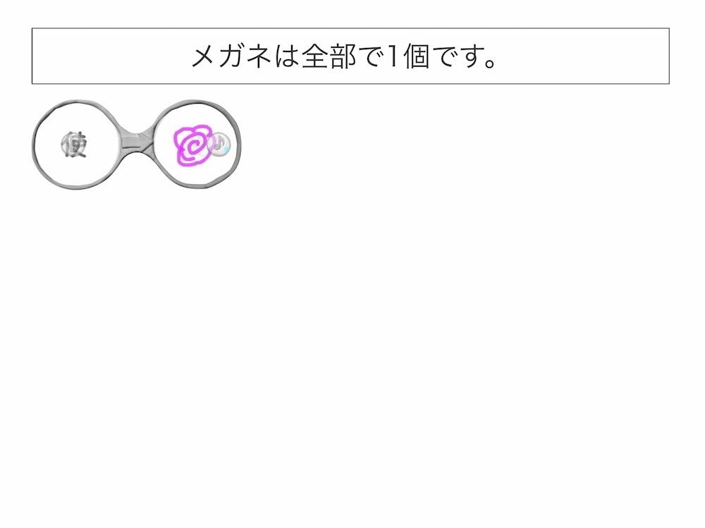 ビスケットで似た漢字メガネ画像